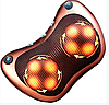 Масажна подушка MASSAGE PILLOW QY-8028 інфрачервоний роликовий масажер для шиї і спини 8 масажних ролика