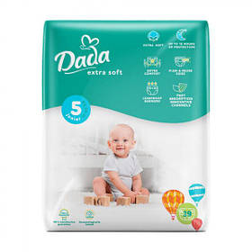 Підгузки DADA  дада Extra Soft 5 (39 шт / 11-25 кг) екстра софт