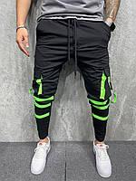 Штаны мужские спортивные черного цвета
