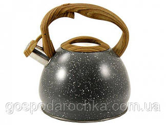 Чайник со свистком 3 л серый Zauberg ZB-16-3