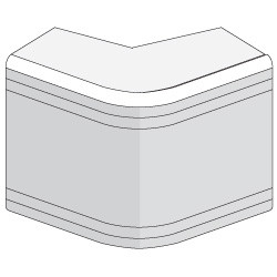 NEA 40х40 угол внешний неизменной (90), белый RAL9001