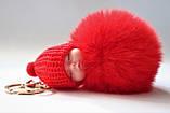 """Брелок (дармовис) для ключів, сумки """"Пухнасте щастя"""", червоний, фото 2"""