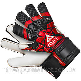 Детские вратарские перчатки SELECT GOALKEEPER GLOVES 88 KIDS, (497) черн/красн р.6