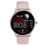 Смарт часы Фитнес браслет трэккер Smart Watch LW29 пульсометром тонометром Full-touch Screen розовые + Подарок, фото 2