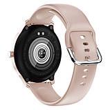 Смарт часы Фитнес браслет трэккер Smart Watch LW29 пульсометром тонометром Full-touch Screen розовые + Подарок, фото 3