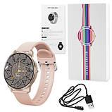 Смарт часы Фитнес браслет трэккер Smart Watch LW29 пульсометром тонометром Full-touch Screen розовые + Подарок, фото 5
