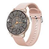 Смарт часы Фитнес браслет трэккер Smart Watch LW29 пульсометром тонометром Full-touch Screen розовые + Подарок, фото 6