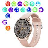 Смарт часы Фитнес браслет трэккер Smart Watch LW29 пульсометром тонометром Full-touch Screen розовые + Подарок, фото 7