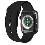 Смарт часы Фитнес браслет трэккер Apl Watch HW22 PLUS пульсометром тонометром магнитная зарядка + Подарок, фото 3