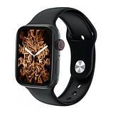 Смарт часы Фитнес браслет трэккер Apl Watch HW22 PLUS пульсометром тонометром магнитная зарядка + Подарок, фото 7