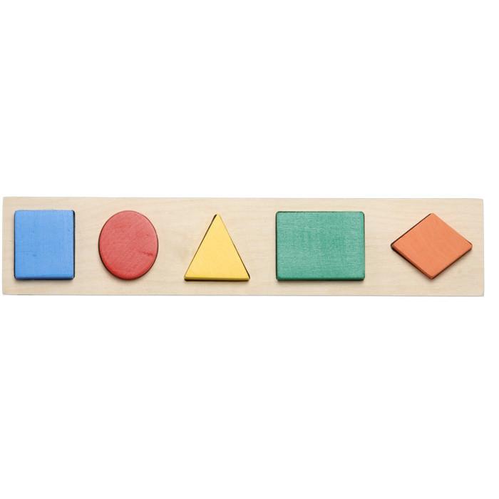 Дидактическая рамка вкладыш на 5 фигур
