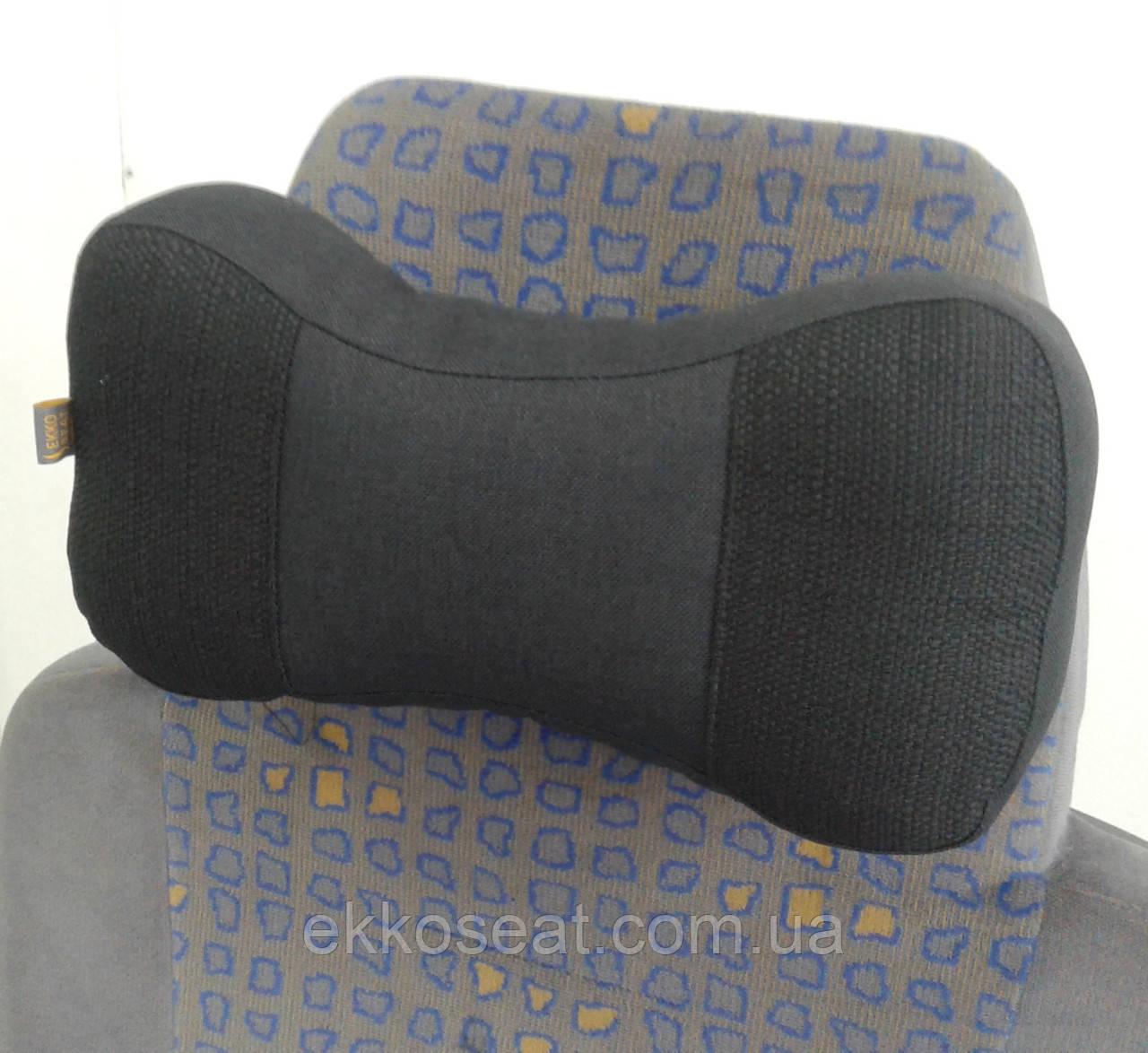 Подушки-підголовники EKKOSEAT в машину - трисекційні. Чорна, Сіра, Бежева.