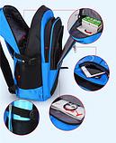 Рюкзак школьный серо-синий Chaoynsu, фото 4