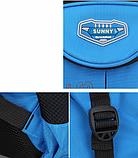 Рюкзак школьный серо-синий Chaoynsu, фото 2
