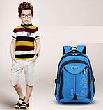 Рюкзак школьный серо-синий Chaoynsu, фото 5
