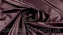 Ткань экокожа на меху цвета марсала