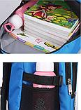 Рюкзак школьный серо-синий Chaoynsu, фото 3