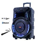 Мощная акустическая переносная колонка-чемодан на аккумуляторе с проводным микрофоном Sky Sound SS-7373 400 Вт
