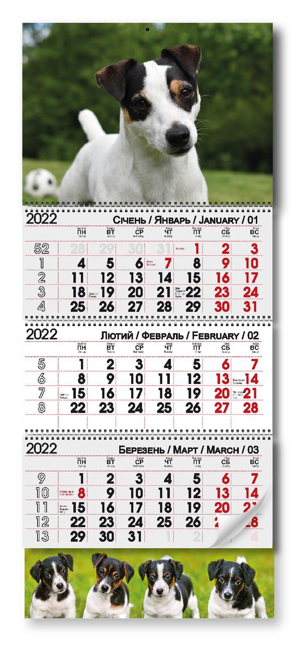"Квартальний календар 2022 ""Пес"""
