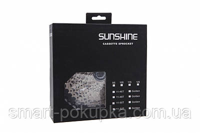 Кассета 11-к 11-50T SUNSHINE CS-HR11-50 на 2-м алюм. пауке