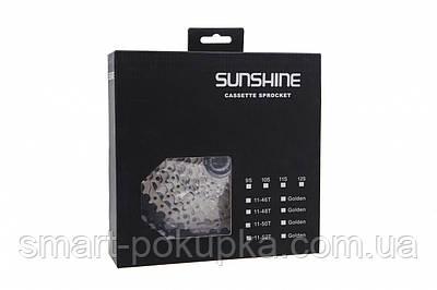 Кассета 11-к 11-46T SUNSHINE CS-HR11-46 на 2-м алюм. пауке