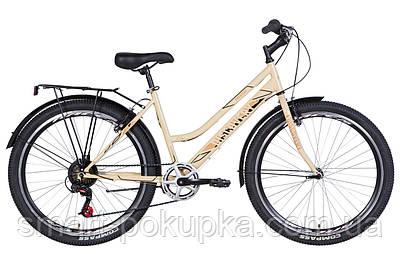"""Велосипед 26"""" Discovery PRESTIGE WOMAN 2021 (біло-фіолетовий з чорним)"""