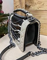 "Сумка Chanel ""Черная/Белая"", фото 3"