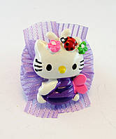 Резинка для волос детская Hello Kitty-12 шт.- Ø 4,0 см., фото 1