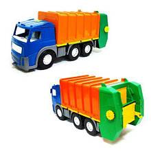 Мусоровоз детский с контейнером  Акрос (синяя) 0565