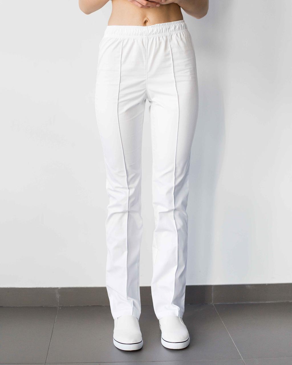 Медицинские женские брюки белые
