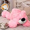 Плюшевый мишка Умка лежащий большой, розовый, 110см, фото 3