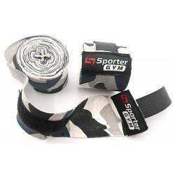 Sporter кистьові бинти (чорний / камуфляж)