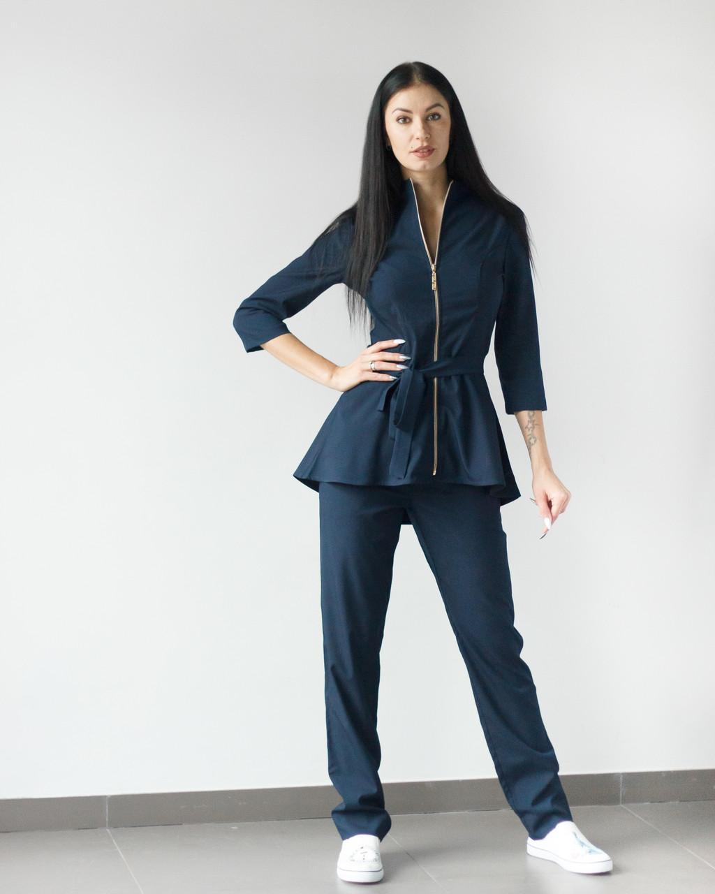 Медицинский женский костюм Мишель (темно-синий)