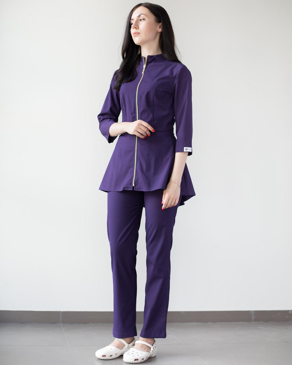 Медичний жіночий костюм Мішель (фіолетовий)
