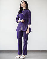 Медичний жіночий костюм Мішель (фіолетовий), фото 1