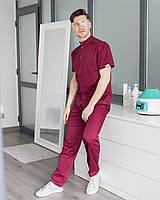 Чоловічий медичний костюм Бостон марсала, фото 1