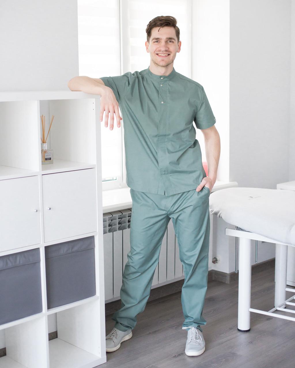 Медицинский мужской костюм Бостон оливковый