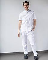 Мужской медицинский костюм Бостон белый, фото 1