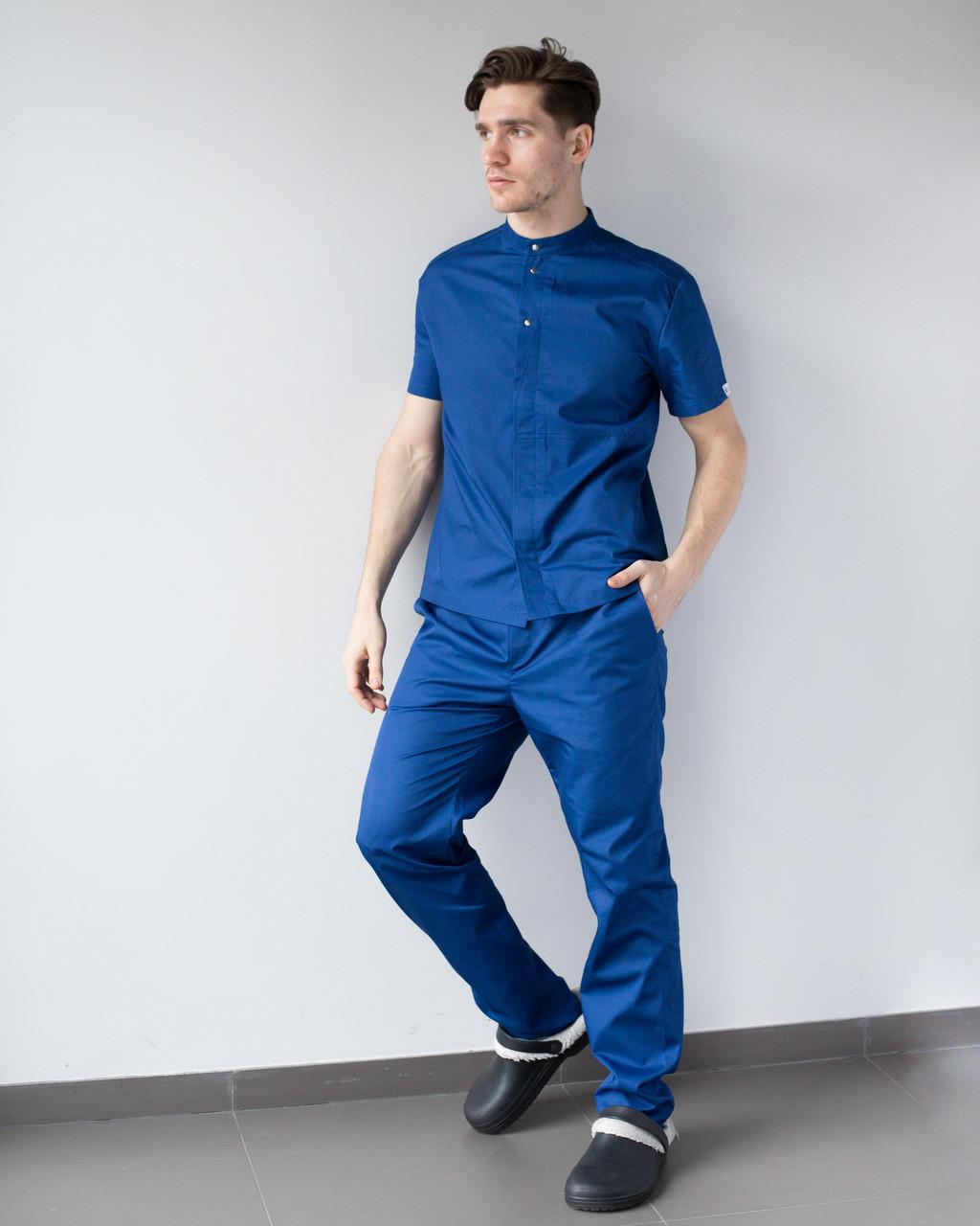 Мужской медицинский костюм Бостон сапфир