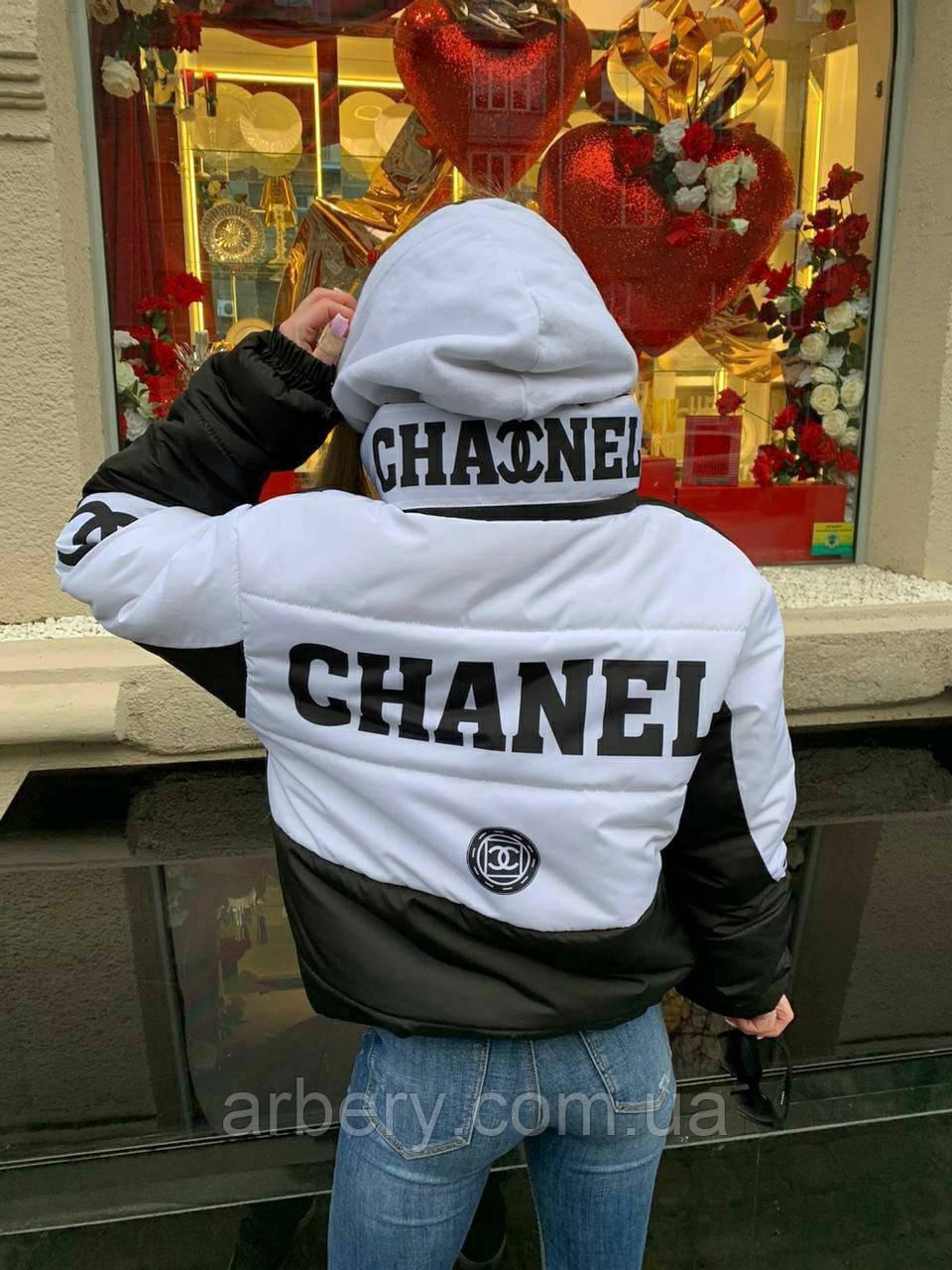 Женская укороченная курточка под бренд