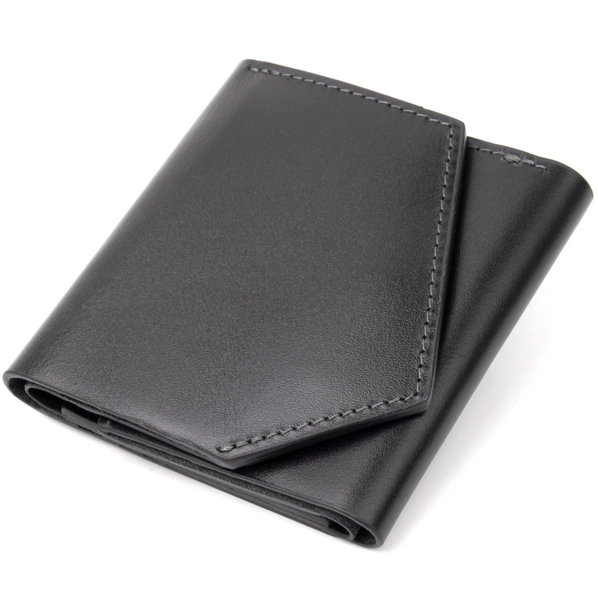Портмоне карманное 11336 Grande Pelle Черное