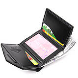 Портмоне карманное 11336 Grande Pelle Черное, фото 4