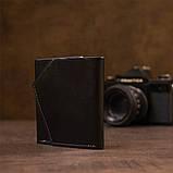 Портмоне карманное 11336 Grande Pelle Черное, фото 7
