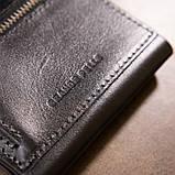 Портмоне карманное 11336 Grande Pelle Черное, фото 9