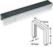 Скоби 4 мм (11,3*0,7 мм) тип 53 (J/53) для меблевого степлера 1000 шт // PROSeries 500-004С