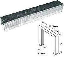 Скобы 4 мм (11,3*0,7мм) тип 53 (J/53) для мебельного степлера 1000 шт // PROSeries 500-004С