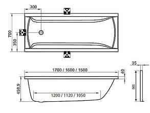 ВаннаRavak  CLASSIC 120x70/ Равак классик 120, фото 2