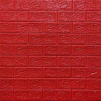 3Д панель декоративная стеновая Красный Кирпич (самоклеющиеся 3d панели для стен оригинал) 700x770x5 мм, фото 1