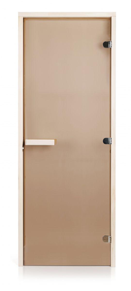 Скляні двері для лазні та сауни GREUS Classic прозора бронза 80/200 липа