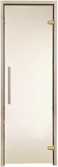 Скляні двері для лазні та сауни GREUS Premium 70/200 матова бронза